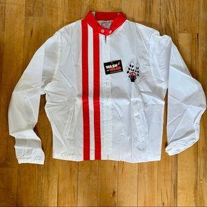 VTG 1970s Deadstock White Racing Jacket